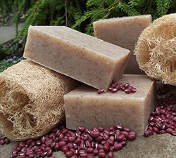 Natural Organic Loofah Adzuki Soap