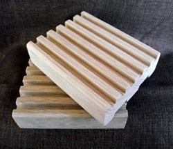 Natural White Oak Soap Dish