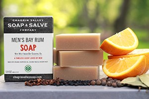 Natural Bay Rum Soap for men