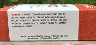Natural Organic Soap Ingredients