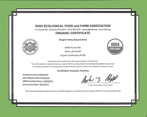 USDA Certified Organic Skin Care