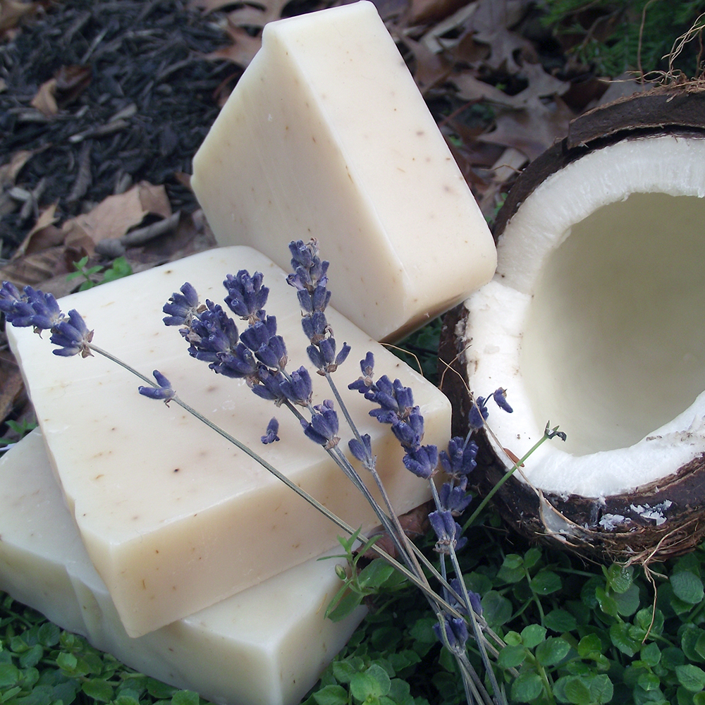 Natural Soap Coconut Shea Lavender Chagrin Valley Soap