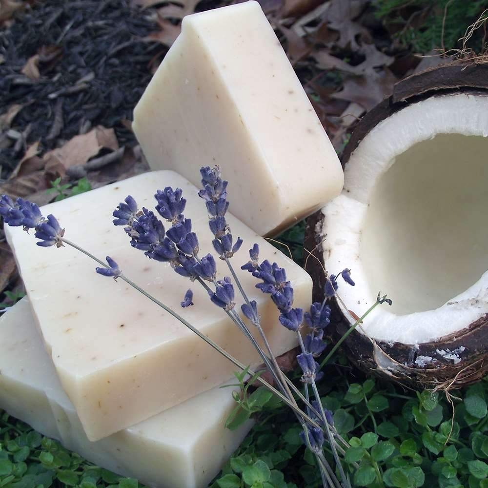 Natural Organic Coconut  Milk Lavender Soap