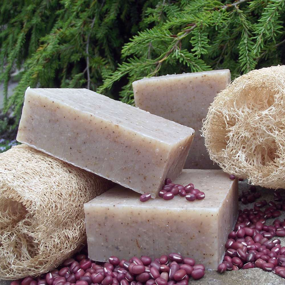 Natural Organic Loofah Adzuki Exfoliating Soap