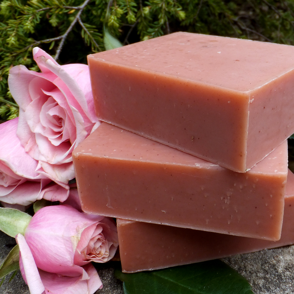 Natural Soap Shea Rose Clay Complexion Chagrin Valley Soap