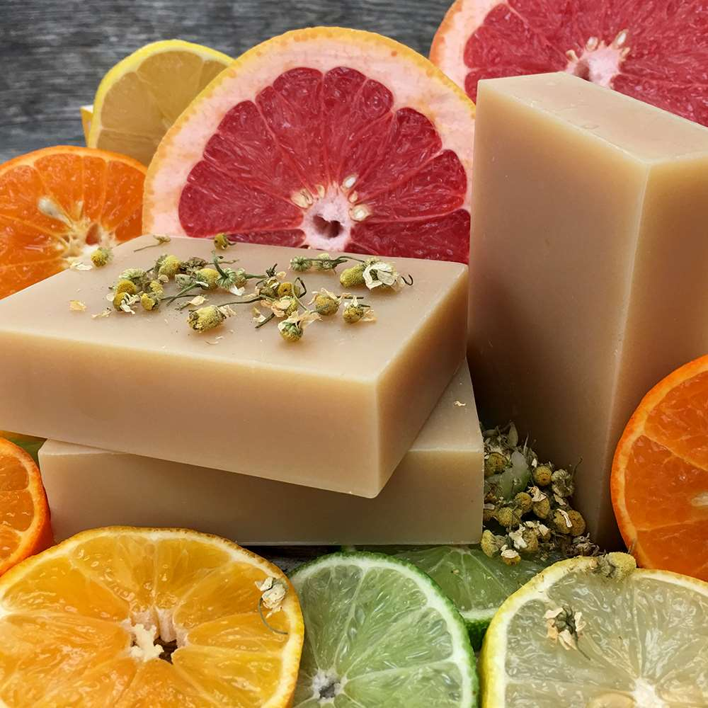 Natural Organic Chamomile Citrus Shampoo Bar