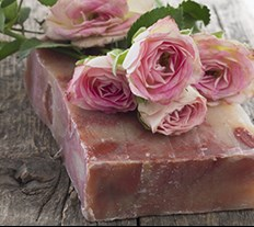 Natural Organic Rose Soap