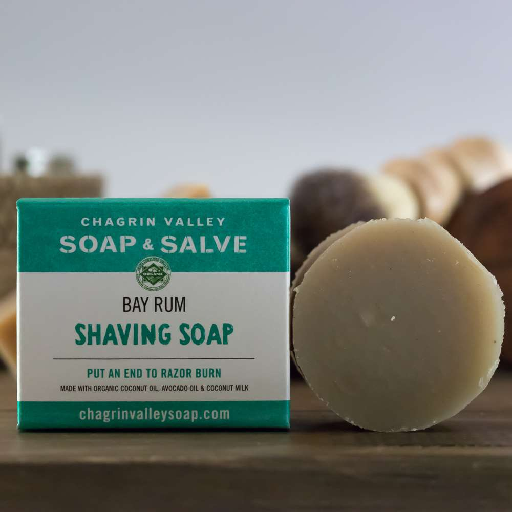 Natural Organic Bay Rum Shaving Soap