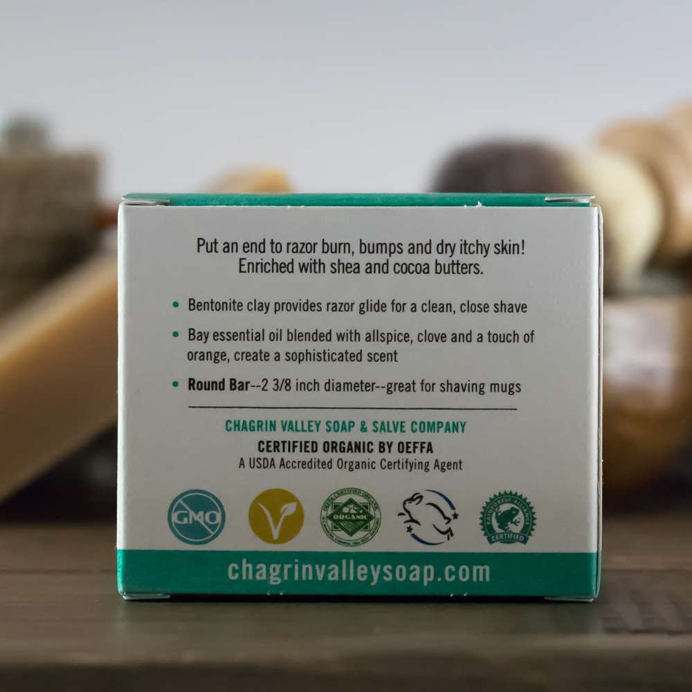 Natural Organic Shaving Soap Bay Rum