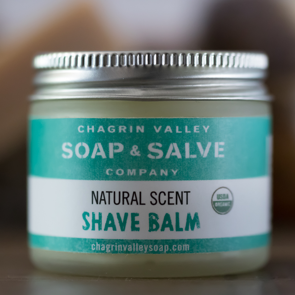 Organic After Shave Balm: Natural Scent   Chagrin Valley Soap