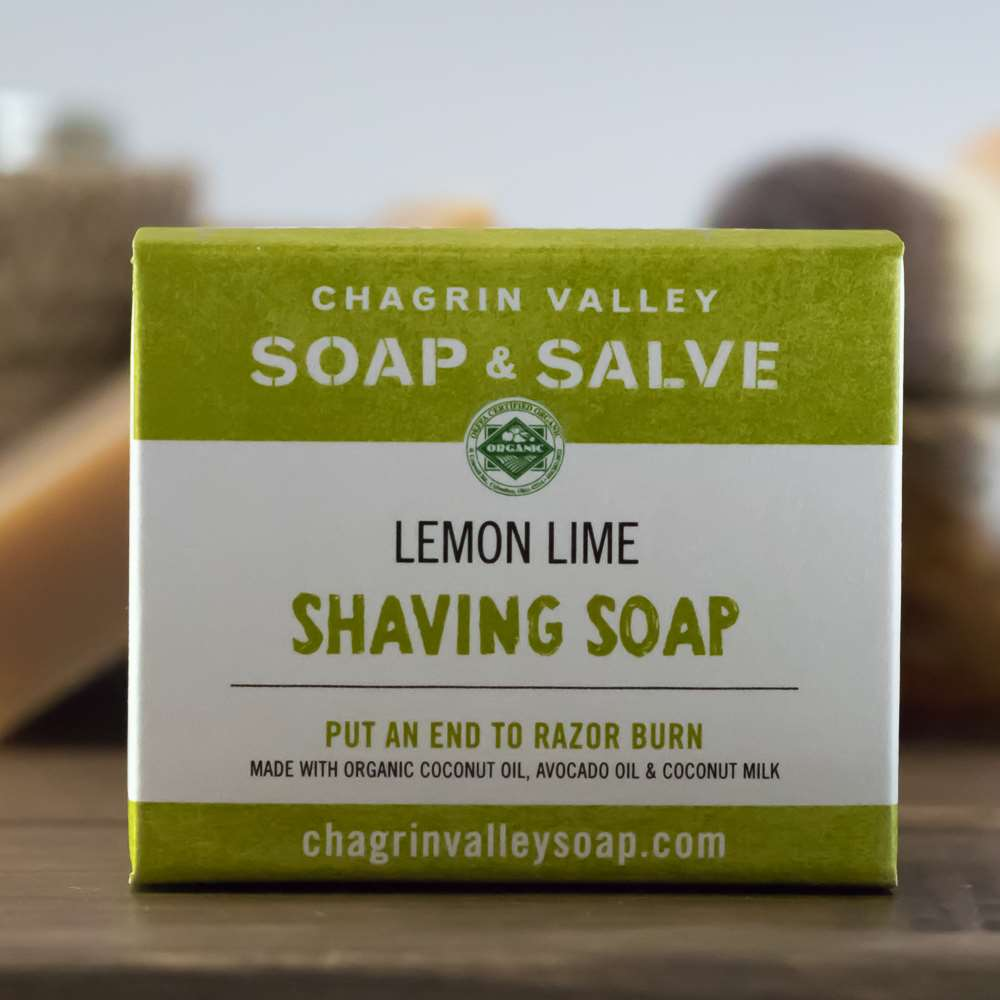 Natural Organic Shaving Soap Lemon Lime Box