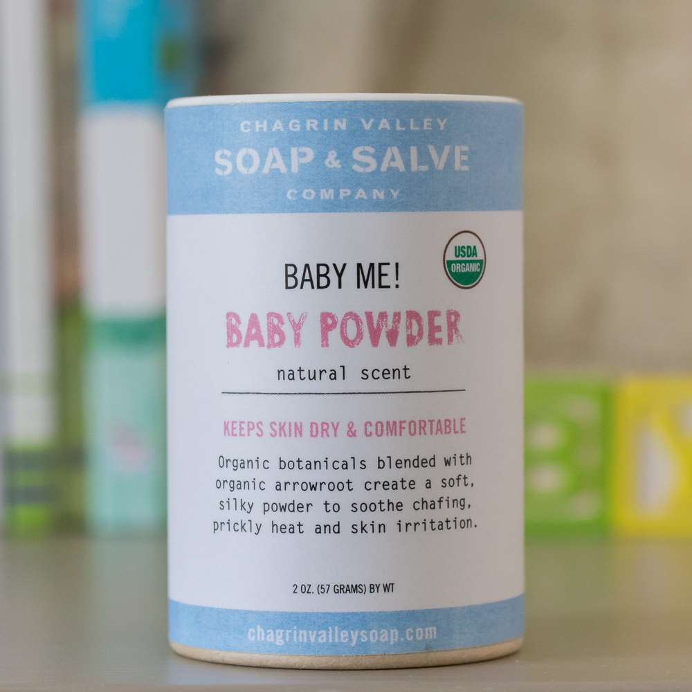 Natural Organic Unscented Talc-Free Baby Powder