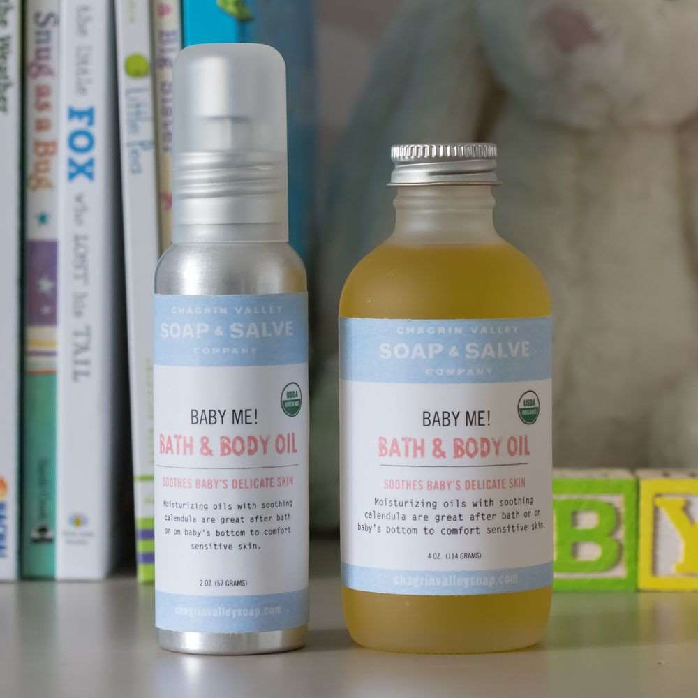 Natural Organic Unscented Baby Oil