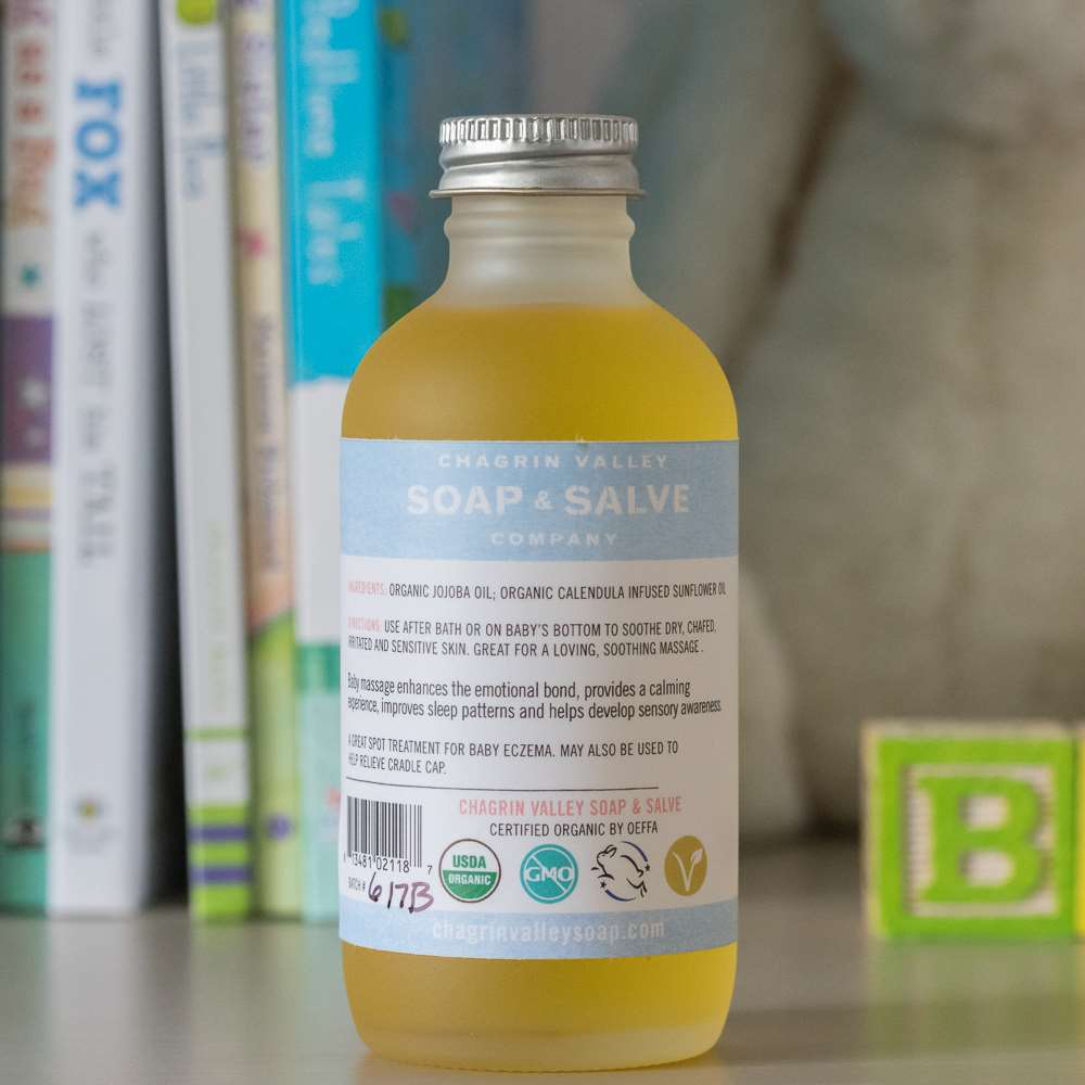 Natural Organic Unscented Baby Bath Oil