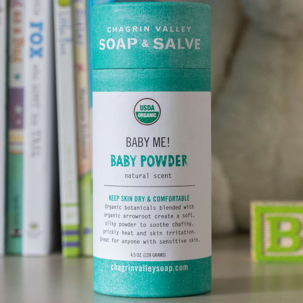 Organic Baby Powder Unscented Chagrin Valley Soap