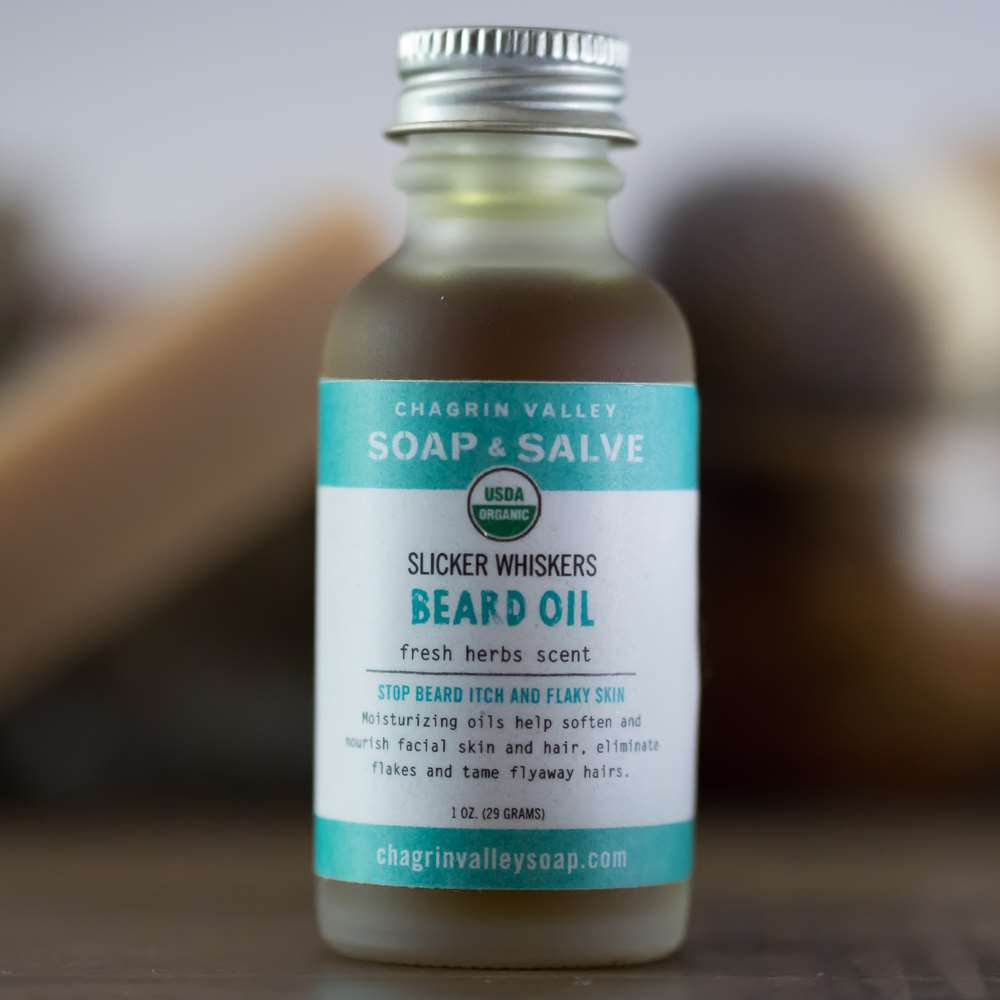 Organic Natural Beard Oil Fresh Herb Scent