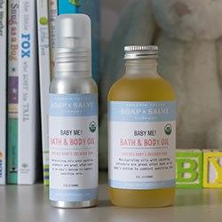 Natural Organic Baby Bath and Body Oil