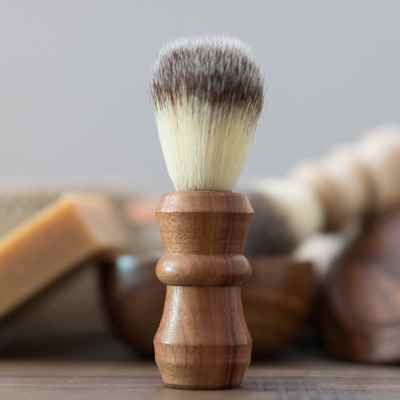 Gift Shaving Brush: Orange Agate