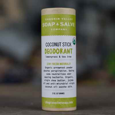 Deodorant: Coconut Stick Lemongrass Tea Tree