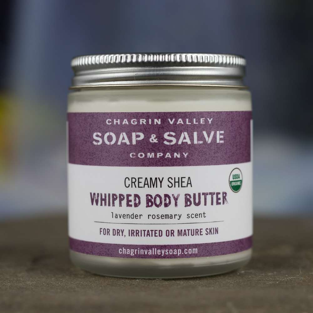 Natural Organic Whipped Shea Butter Lavender Body Balm