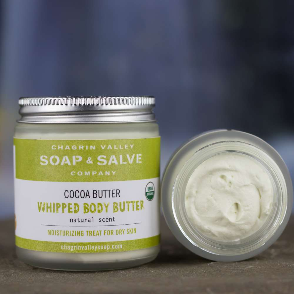 Organic Body Cream Cocoa Butter Chagrin Valley Soap