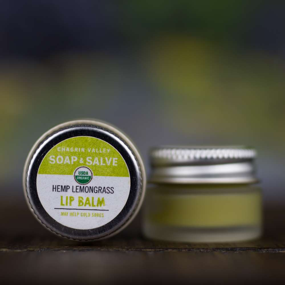 Natural Organic Hempseed Lemongrass Lip Butter Balm