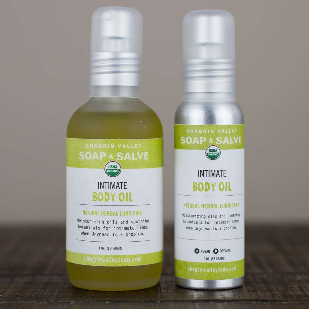 Natural Organic Intimate Lubricating Body Oil