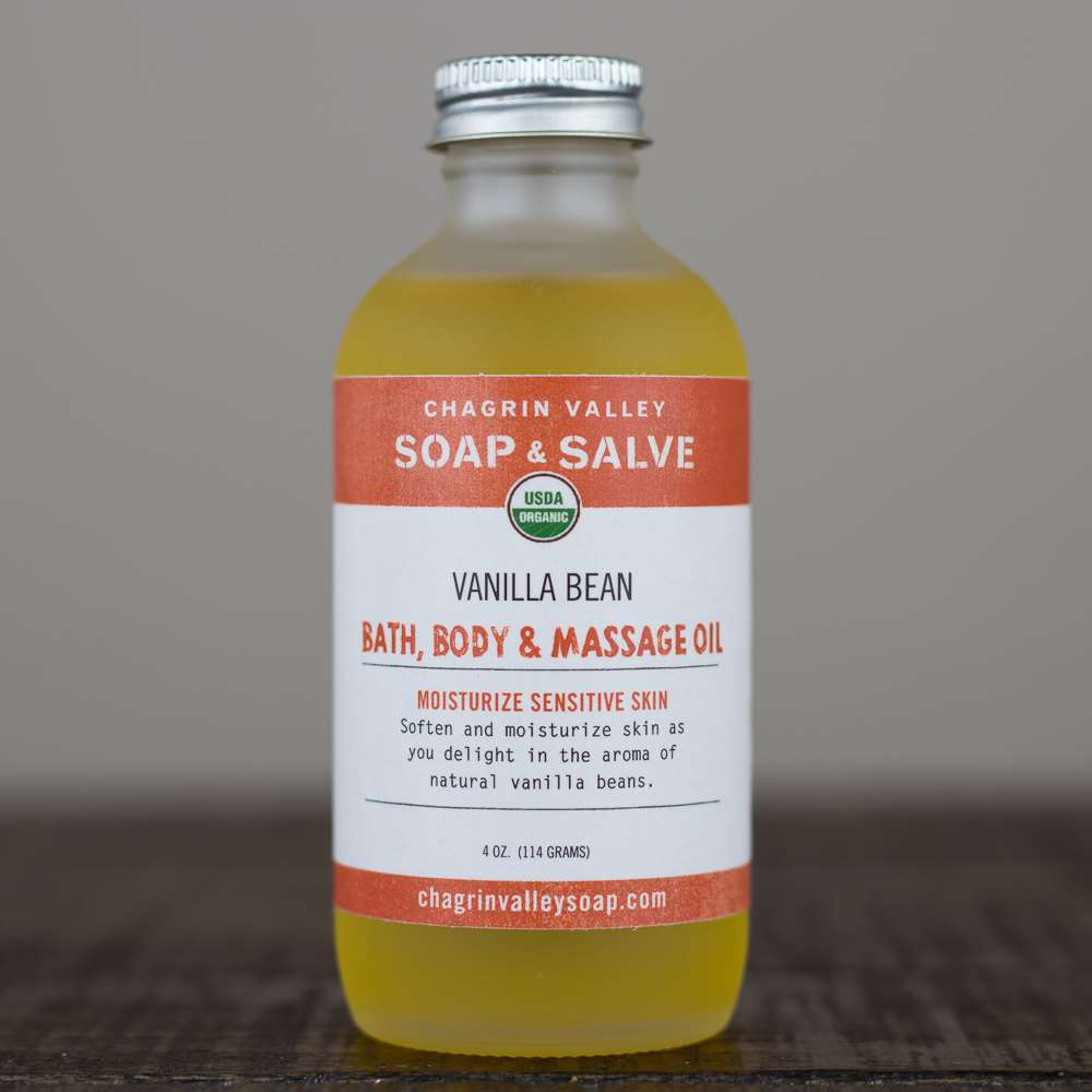 Natural Organic Vanilla Bean Bath_Body and Massage Oil