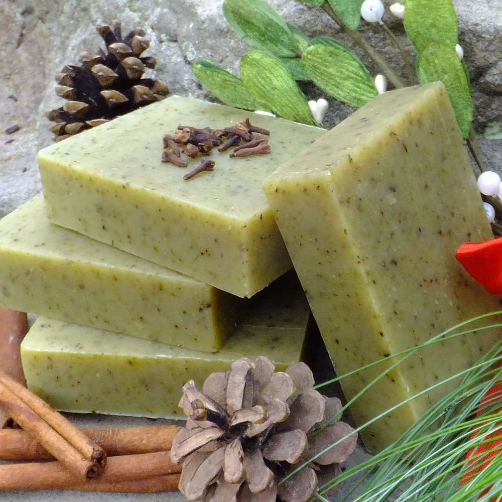 Natural Organic Mistletoe Christmas Soap