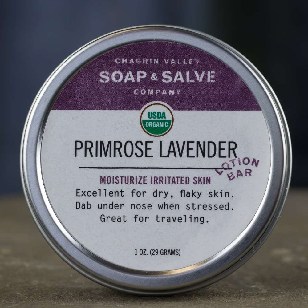 Natural Organic Evening Primrose Lavender Lotion Bar