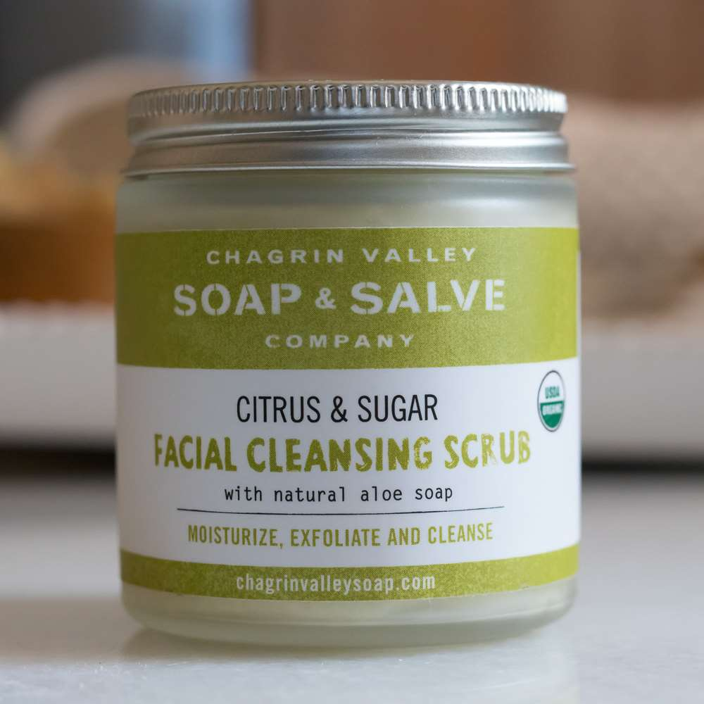 Natural Organic Cleansing Sugar Facial Scrub