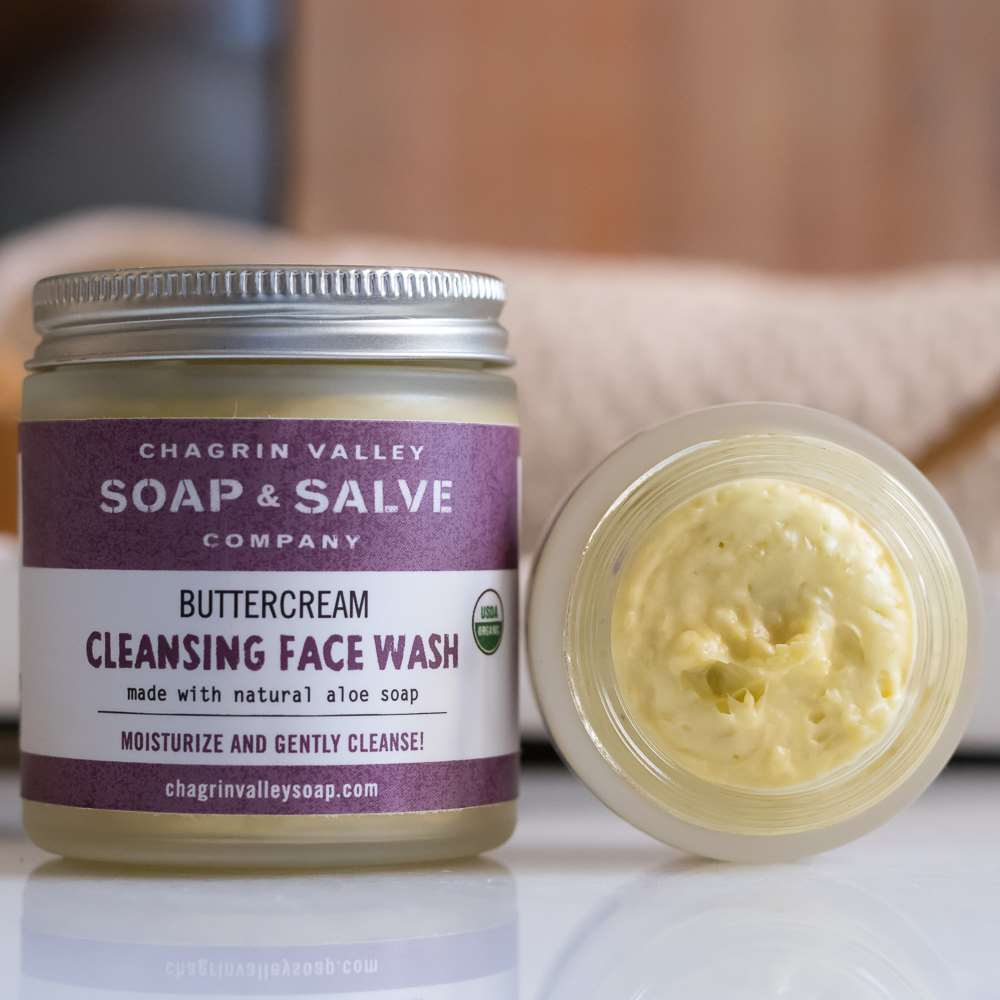 Natural Face Wash Amp Cleasing Cream Chagrin Valley Soap