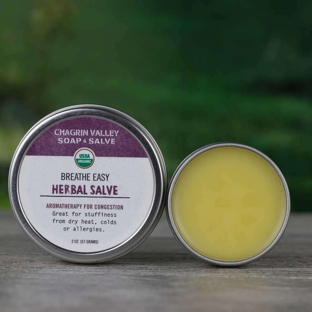 Salve Essential Oil Rub For Congestion Chagrin Valley Soap