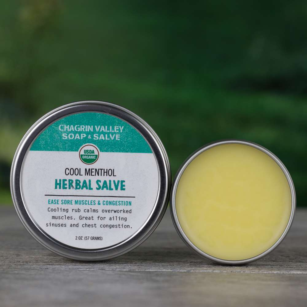 Natural Organic Menthol Congestion Sore Muscle Salve Cream