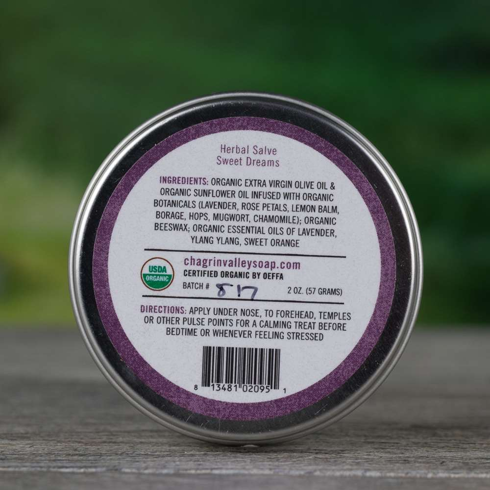Natural Organic Relaxation Aromatherapy Salve Cream