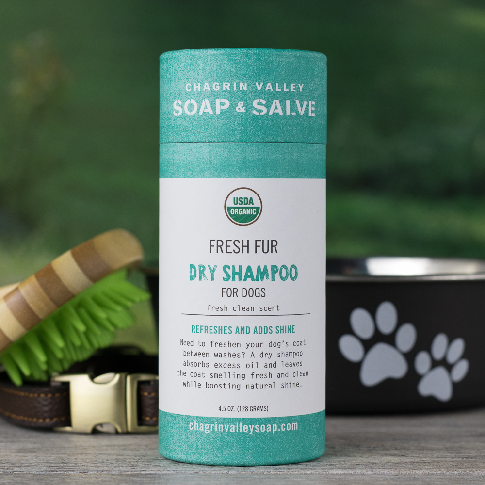 Organic Dry Shampoo for Dogs | Chagrin Valley Soap