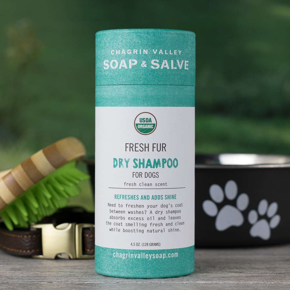 Natural Organic Fresh Fur Dry Shampoo for Dogs