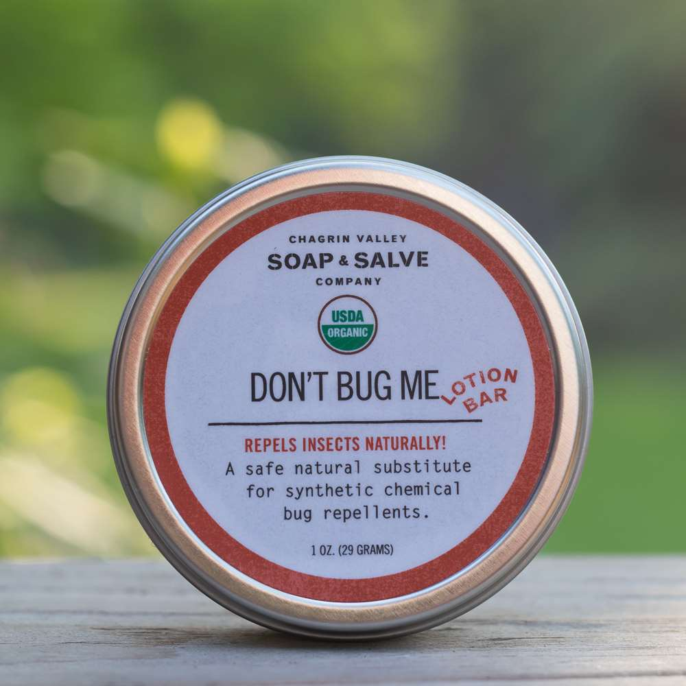 Don T Bug Me Natural Bug Repellent Lotion Bar Chagrin