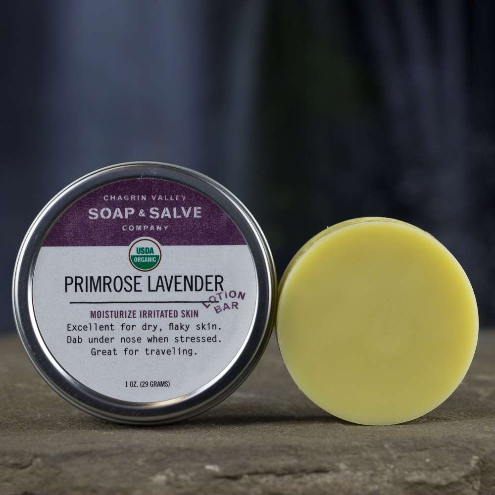 Natural Organic Evening Primrose Oil Lotion Bar Lavender