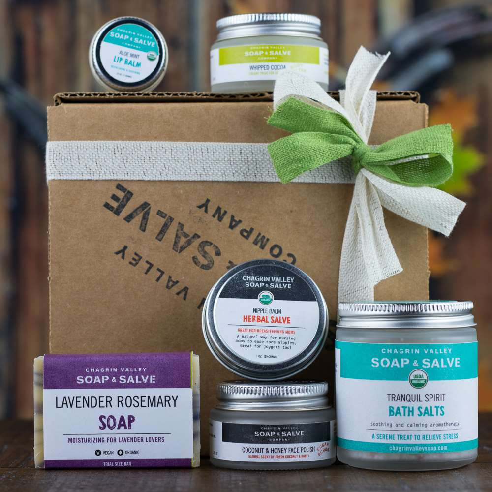 Natural Organic Skin Care New Mom Sampler Gift
