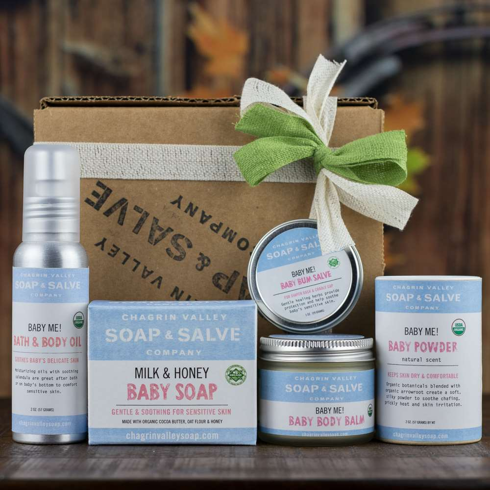 Natural Organic New Baby Skin Care Gift