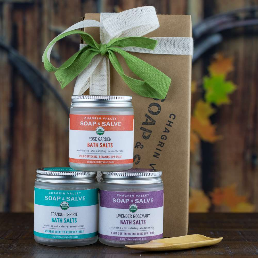 Natural Organic Skin Care Gift Bath Salts