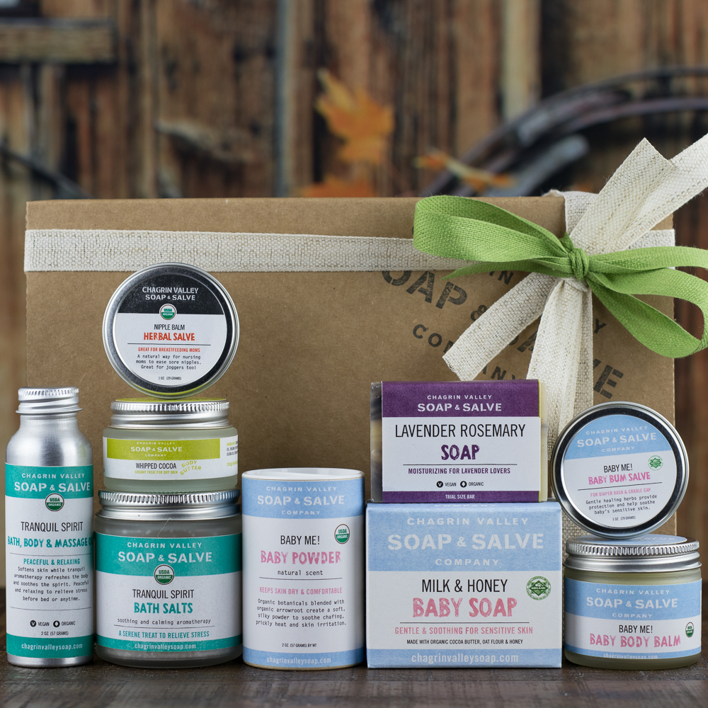 69.50 & Mom and Baby Natural Skin Care Gift | Chagrin Valley Soap