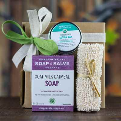Gift: Soap-Lotion Bar-Washcloth