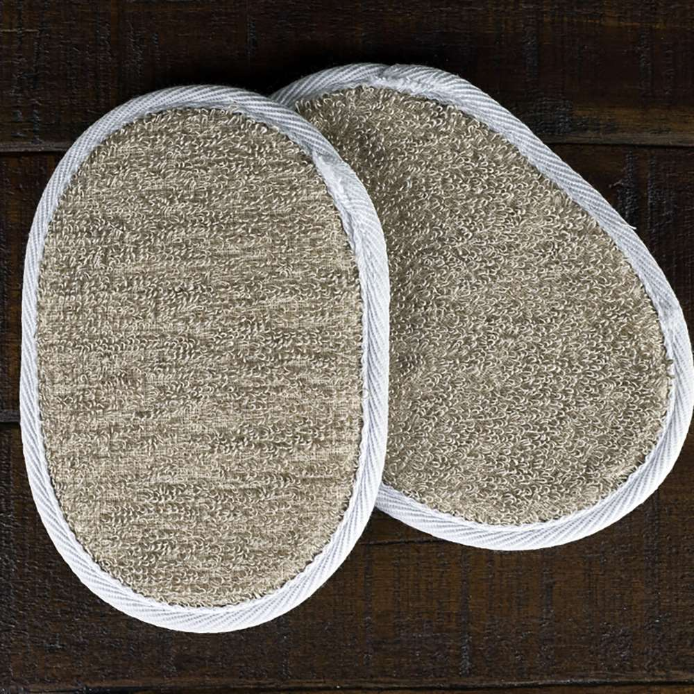 Flax and Terry Cloth Body Buffy Pad