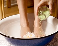 Natural Organic Foot Soak for Sore Tired Feet