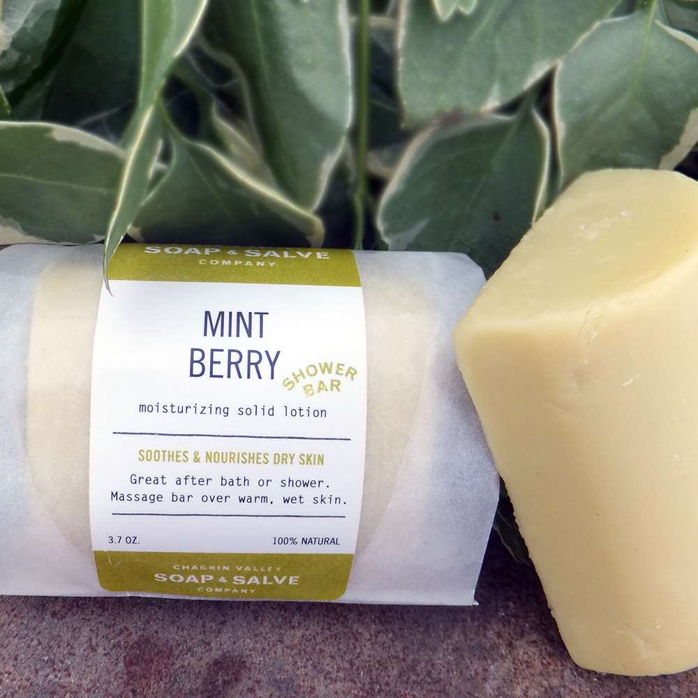 Natural Organic Mint Shower Lotion Bar