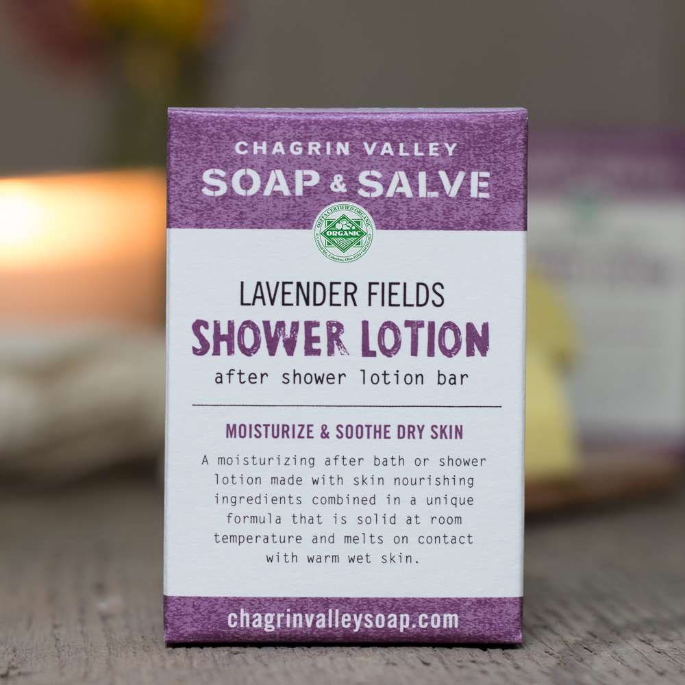 Natural Organic Lavender Shower Lotion Bar