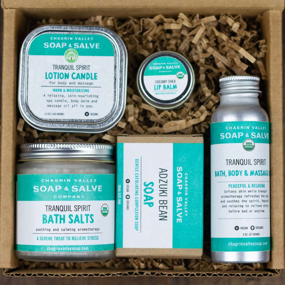 Natural Organic Skin Care Tranquil Relaxation Sampler Gift