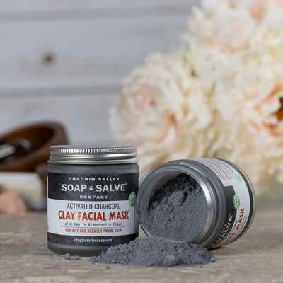 Clay Face Mask: Activated Charcoal